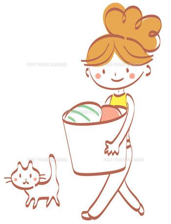 洗濯物運び FYI00439628