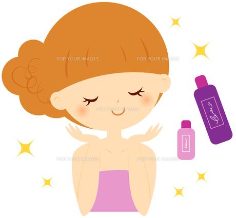 基礎化粧品と女の子 FYI00439714
