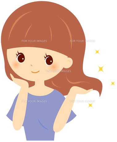 豊かな髪の女性 FYI00439730