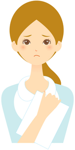 若い女性 困った顔 FYI00439731