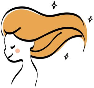 なびく髪の女性 FYI00439747