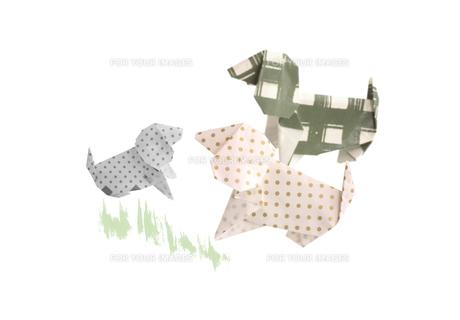 折り紙の犬の親子 FYI00466112