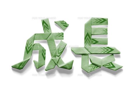 矢印の模様がある成長の文字の折り紙 FYI00466178