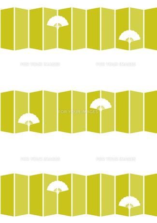 扇子と屏風の背景 FYI00466202