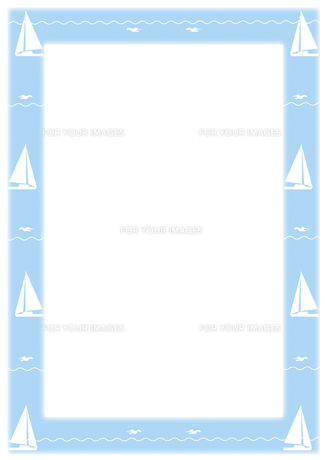 ヨットとカモメのフレーム FYI00466209