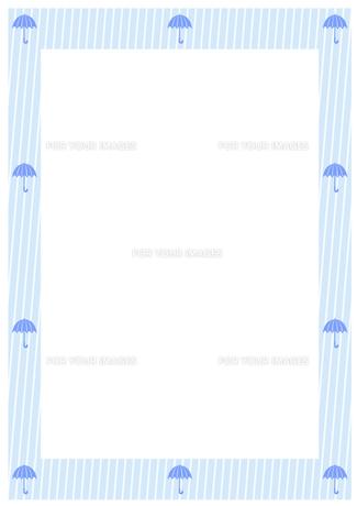 雨と雨傘のフレーム FYI00466212