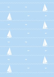 ヨットとカモメの背景 FYI00466218