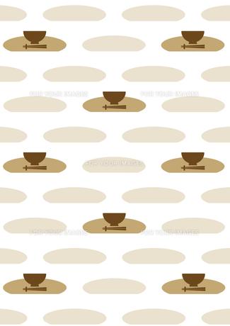 お椀と箸の背景 FYI00466232