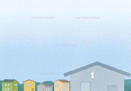 てるてる坊主が下がる雨の住宅街 FYI00466281