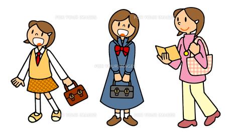 女性の一生 中学から高校から大学 FYI00466358