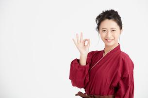 作務衣を着た女性 FYI00466448