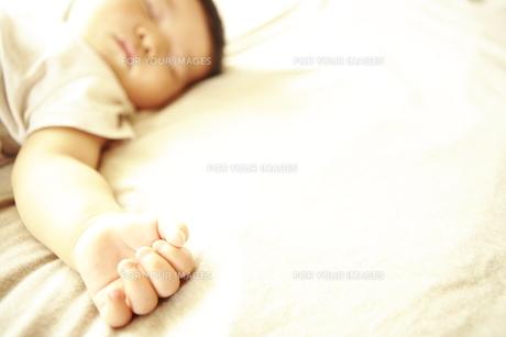 眠る赤ちゃんの手 FYI00469664