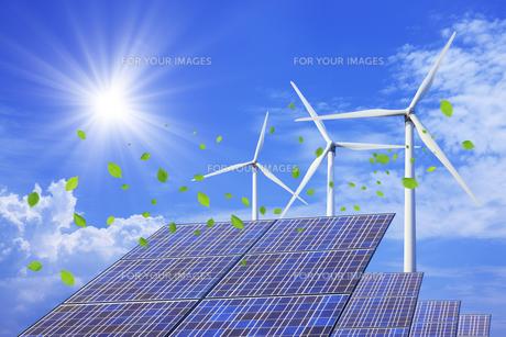 太陽光発電と風力発電 FYI00475154