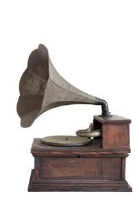 白バックの蓄音機 FYI00476137