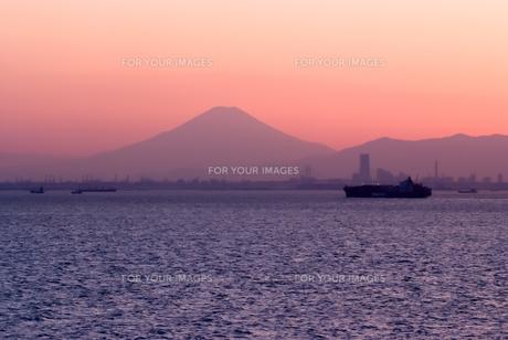 東京湾ごしに富士山を望む FYI00481754