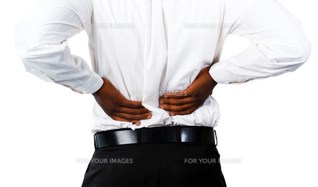 Muscular man with backpain FYI00482691