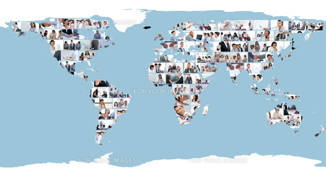 World map made of pictures FYI00484669