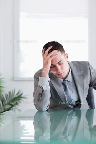 Close up of businessman that got bad news FYI00484705