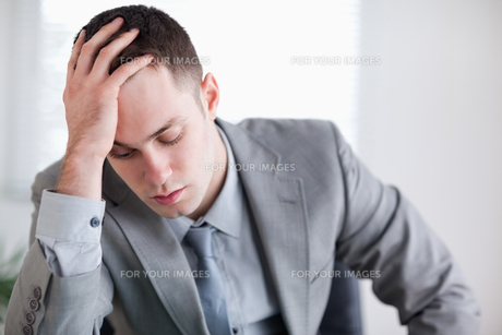 Close up of businessman after getting bad news FYI00484718