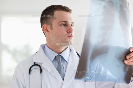 Doctor with xray photograph FYI00484741