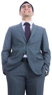 Smiling businessman standing FYI00485778