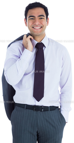 Smiling businessman standing FYI00485798