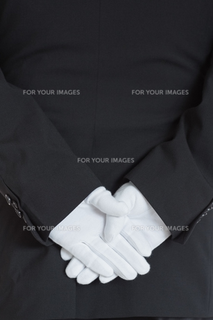 Close up rear side of a waiter FYI00486557