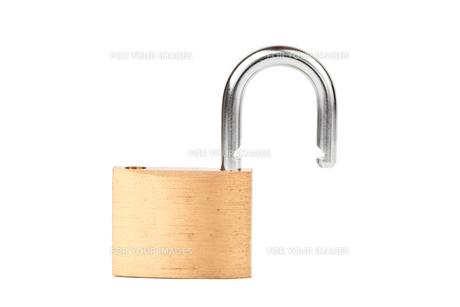 Padlock standing unlocked FYI00486671