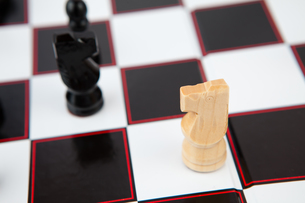 Chess pieces on the board FYI00486677