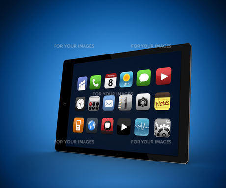 Tablet computer with applications FYI00486708