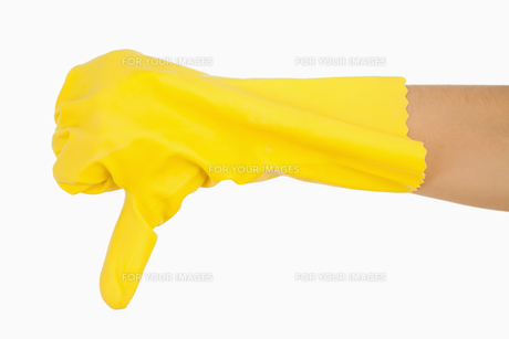 Female hand giving the thumbs down FYI00486728