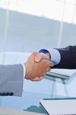 Portrait of a handshake FYI00486928