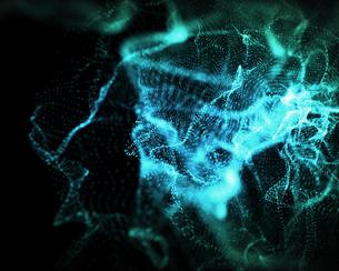 Indefinite shapes of blue lights FYI00487333