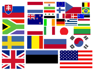 Collection of world flags FYI00487617