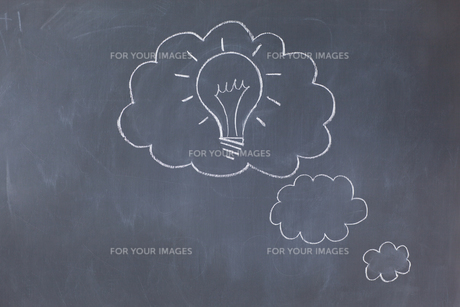 Cloud bubbles on a blackboard FYI00487774