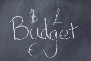 Word Budget written on a blackboard FYI00487902