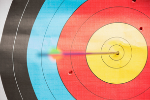 Arrow in bulls eye target FYI00488145