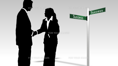 Business teamwork leading to successの素材 [FYI00488580]