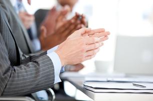 Close up of a Business team applauding a presentation FYI00488583