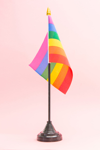 Gay Pride flag on stand FYI00488654