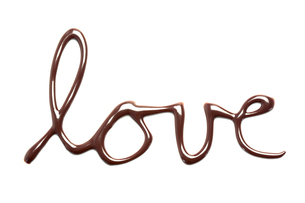 Love spelled out in chocolate FYI00488664