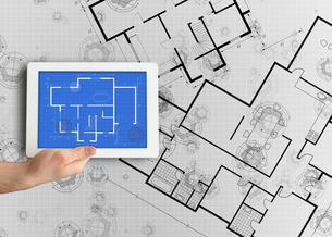 Digital tablet displaying blueprint FYI00488717
