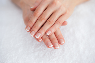 French manicured fingers at spa center FYI00488749