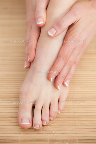 French nail treatment at spa center FYI00488757