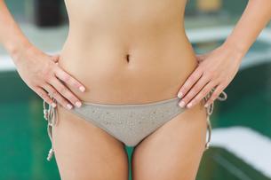 Pretty grey bikini bottoms FYI00488764