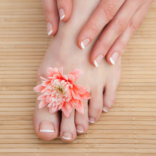 French nail treatment at spa center FYI00488796