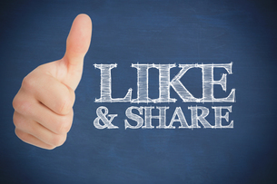 Thumb up representing social network logoの素材 [FYI00488872]