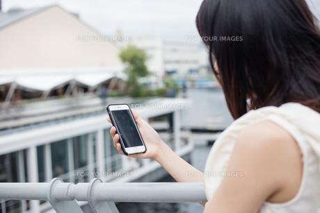 スマホを見る女性 FYI00491635