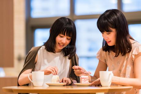 カフェでくつろぐ女性の素材 [FYI00491682]