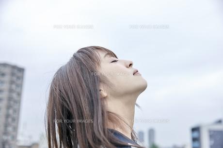 空を見上げる女性 FYI00495600
